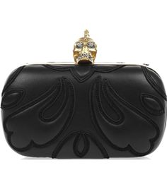 Punk Baroc Skull Leather Box Clutch by Alexander Mcqueen #matchesfashion