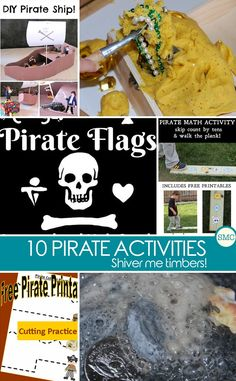 Loving all these pirate activities - perfect for Talk Like a Pirate Day! Click on the image to see the m all