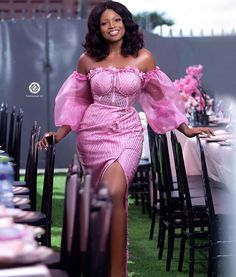 Nigerian Lace Styles Dress, Lace Dress Styles, African Dresses For Women, African Fashion Dresses, Long Kimono Outfit, Bride Reception Dresses, Fashion Illustration Dresses, African Traditional Dresses, Cute Prom Dresses