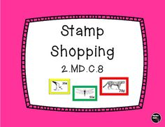 Use this colorful poster for practice with adding money amounts.  Give students a targeted amount and have them come up with combinations of stamps that equal that target.  Ask students what is the most number of stamps that could be purchased with a given amount of money.