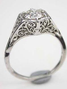 ~1920's Antique Diamond Engagement Ring~