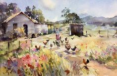 """Endless Summer"" watercolour by Trevor Waugh"