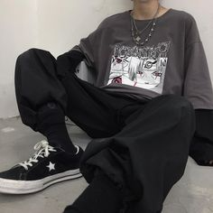 Swaggy Outfits, Mode Outfits, Retro Outfits, Grunge Outfits, Cute Casual Outfits, Tomboy Outfits, Tomboy Fashion, Streetwear Fashion, Fashion Outfits