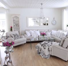 White and pop of color