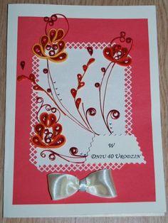 Piękna kartka urodzinowa/imieninowa wykonana przeze mnie ;) Zainteresowanych proszę o kontakt priv ;)