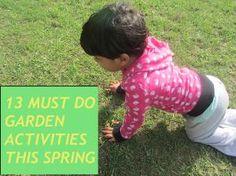 13 must do Garden activities this Spring!   Art Play Explore