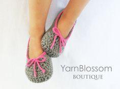 Crochet slipper pattern - toddler sizes
