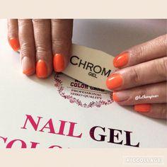 #somelikeithotter #chromagel1step #shortnails #naildesign #nailstagram #mobilebeauty #homesalon