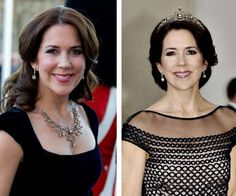 The thrifty Princess! Mary transformed a collar candy into a tiara.