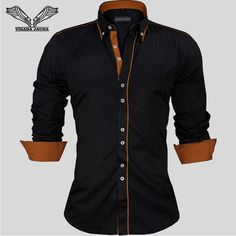 British Style Slim Fit Long Sleeve Men's Fashion Shirts