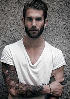 Daily Dose of Bearded Men with Tattoos From Beardoholic.com Tattoos For Guys, Cool Tattoos, Tatoos, Arm Tattos, Funky Tattoos, Neck Tattoos, Beard Shampoo And Conditioner, Sexy Beard, Man Beard