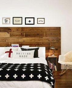 faire une tête de lit soi-même, grande tete de lit en bois