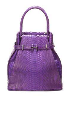 Purple Python Matte Natural Cassis Apollo.  Handbag.  VBH Fall/Winter 2013 Collection.