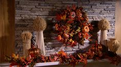 This fall wreath is bursting with autumn colors. Harvest Pumpkin and Berry Wreath H203594 http://qvc.co/-Shop-ValerieParrHill