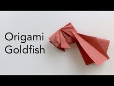 Tutorial for an Origami Goldfish - Designed by Ta Trung Dong (ASMR Paper Folding) - YouTube