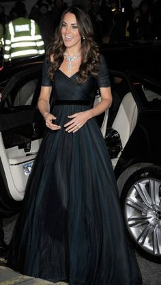 Kate Middleton arriving at the National Portrait Gallery