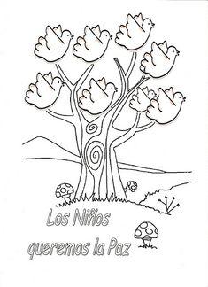 Pasitos de Colores: DÍA DE LA PAZ Class Decoration, School Decorations, Peace Crafts, Peace Poster, Middle School Spanish, Children's Church Crafts, Teaching Aids, Autumn Crafts, Teaching Spanish