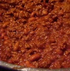 Another pinner says this is the Best Chili Ever...made it, added elbow noodles, guys loved it, me not a fan of beans. Otherwise tasty.