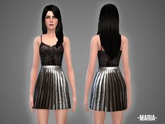 The Sims Resource: Maria top & skirt by April • Sims 4 Downloads  Check more at http://sims4downloads.net/the-sims-resource-maria-top-skirt-by-april/