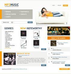 Portal Music Website Templates by Hugo