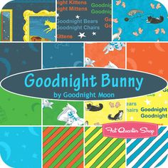 Goodnight Bunny Fat Quarter Bundle Goodnight Moon for Quilting Treasures