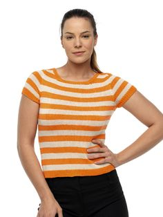 Knitted Stripey Top
