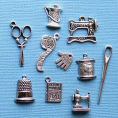 @Erin Peterson Sewing Charm Collection Antique Tibetan Silver by BohemianFindings, $3.50