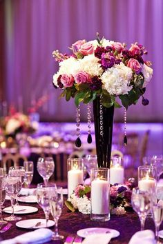 wedding purple wedding reception decor theme