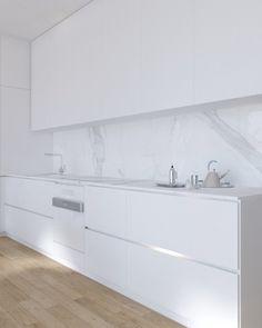 Luxury Kitchen Design, Kitchen Room Design, Contemporary Kitchen Design, Kitchen Cabinet Design, Luxury Kitchens, Home Decor Kitchen, Interior Design Kitchen, Home Kitchens, Studio Interior
