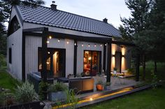 wooden comfy house and terrace