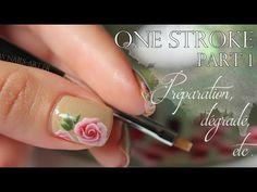NAIL ART One Stroke part 1 - YouTube