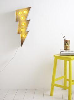 Lightning bolt wall #lamp - £95, BHS. #lighting #homewares