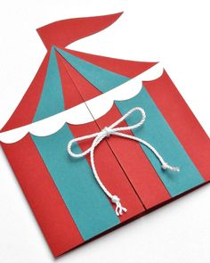 Boys Circus or Carnival Tent Handmade Birthday by peasandthankyous, $27.00
