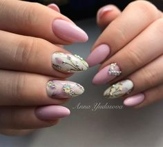 Best elegant simple pink and white with jewels gorgeous nail art spring 2017