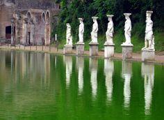 Caryatids in Hadrian's villa at Tivoli - SACI art history field trips includes Hadrian's Villa (Villa Adriana in Italian) is a large Roman archaeological complex at Tivoli, Italy.  http://www.saci-florence.edu/17-category-study-at-saci/90-page-field-trips.php