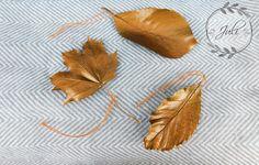 DIY Herbst Deko * Blätter mit Bronze Sprühlack verschönern