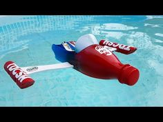 How To Make Flying Airplane Using Cardboard and Coke Bottle
