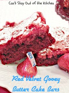 Red Velvet Gooey Butter Cake Bars | Can't Stay Out of the Kitchen | FREE RECIPE AND TUTORIAL 7/14.