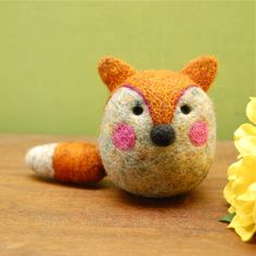 Needle Felted Fox Wool Egg Toy Made to Order by asherjasper on Etsy https://www.etsy.com/listing/80133528/needle-felted-fox-wool-egg-toy-made-to