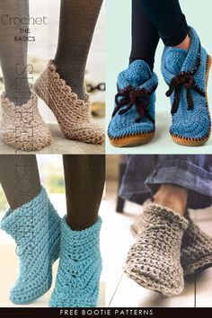 I'm taking knitting and crocheting lessons--Lorrie//DiaryofaCreativeFanatic: Needlecrafts - Loom, Knit, Crochet, Sew - Slippers Crochet Boots, Knit Or Crochet, Crochet Crafts, Crochet Clothes, Loom Knitting Projects, Loom Knitting Patterns, Crochet Patterns, Mode Crochet, Crochet Quilt