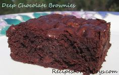 Recipes For My Boys: Deep Four Chocolate Brownies