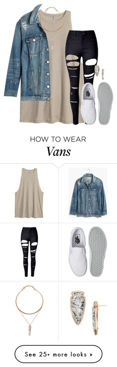"""Fearfully & wonderfully made."" by amberfmillard-1 on Polyvore featuring WithChic, Vans, Madewell and Kendra Scott"