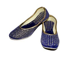 Beautiful Blue & Gold Color Indian Ethnic Handmade by DesignerRu