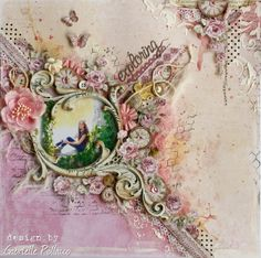 Scrapbook page by Gabrielle Pollacco using Maja Design papers and Dusty Attic Chipboard