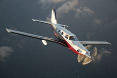 Piper Meridian in Flight... Just toooo cool!