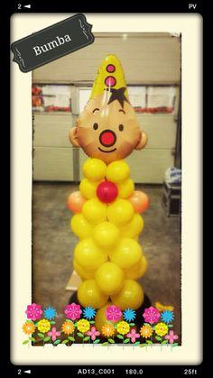 Bumba ballonnen pilaar voor verjaardag. Feestje! www.ballonnendeal.nl
