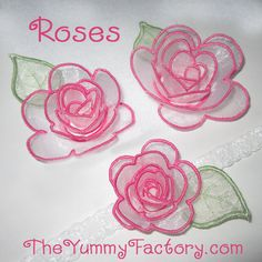 In the hoop Rose Embroidery design