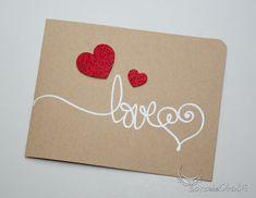 Easy, Heat Embossed, Written Valentine's Card