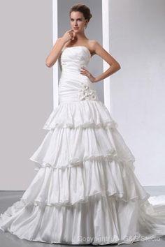 http://www.zbrands.com/Strapless-Womens-Dresses-C60 Elegant Empire Strapless Taffeta Chapel Train Wedding Dress WEM05055-G
