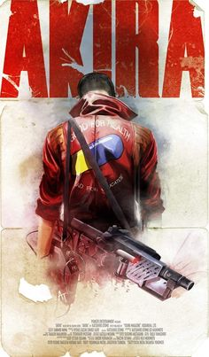"""pixalry: """" Akira: Kaneda Poster - Created by Jose Angel Trancón Fernández """" Best Movie Posters, Cinema Posters, Movie Poster Art, Film Posters, Akira Poster, Bd Comics, Anime Comics, Akira Kaneda, Manga Anime"""